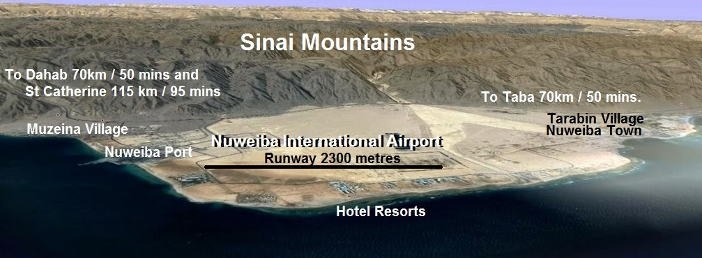 nuweiba airport from the east
