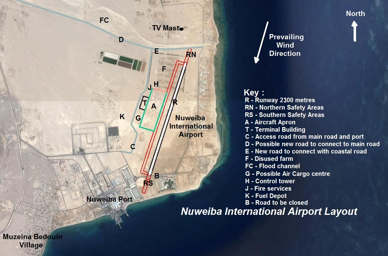 Layout of Nuweiba Airport
