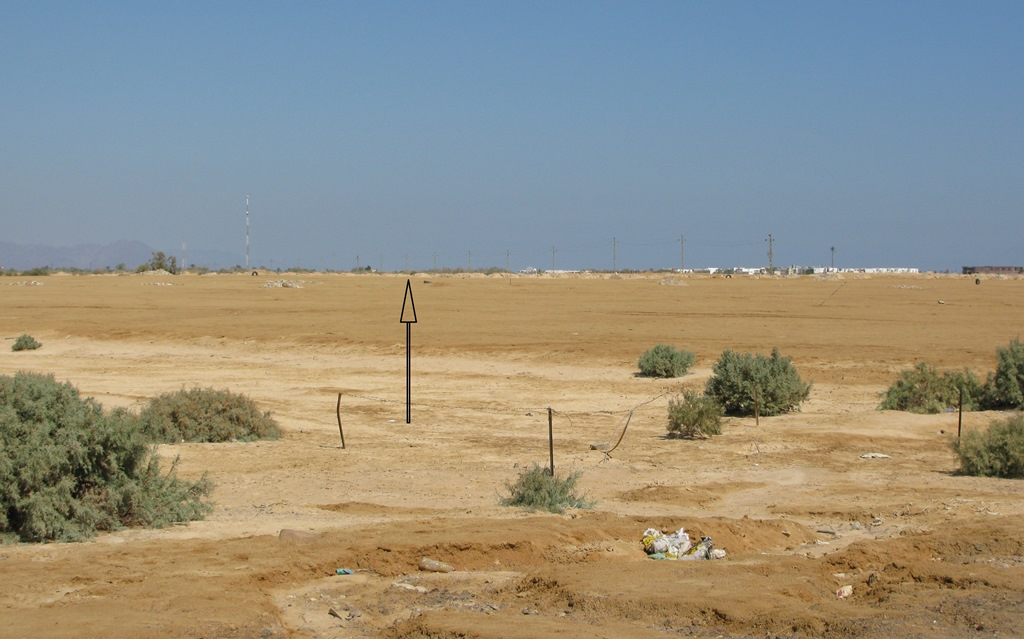 View of Nuweiba Airport site from south end of runway